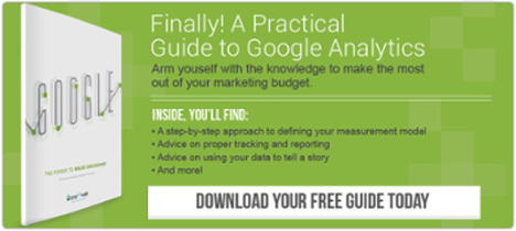Finally, a Practical Guide to Google Analytics. Download Your Free Copy Today.