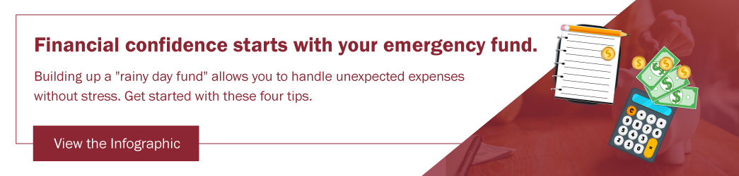 View Infographic - 4 Tips for Building an Emergency Fund Savings Account