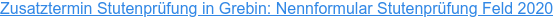 Zusatztermin Stutenprüfung in Grebin: Nennformular Stutenprüfung Feld 2020
