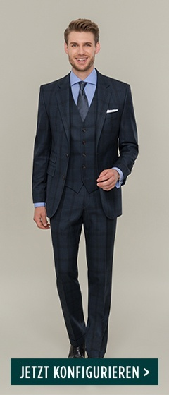 DOLZER-Men-Business-Anzug-blau-anthrazit-karo-hemd-HW17