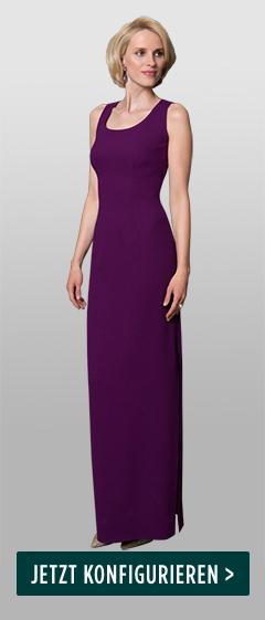 DOLZER-Abendkleid-Uni-lila-Leinwandbindung