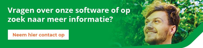 Leer meer over onze software, neem contact op.