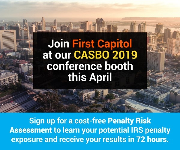 Join First Capitol at CASBO 2019