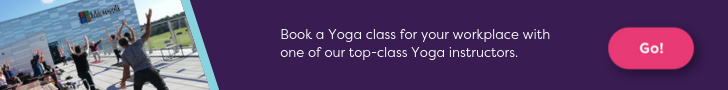 Book a workplace yoga class
