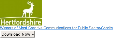Winners of Most Creative Communications for Public Sector/Charity Download Now »