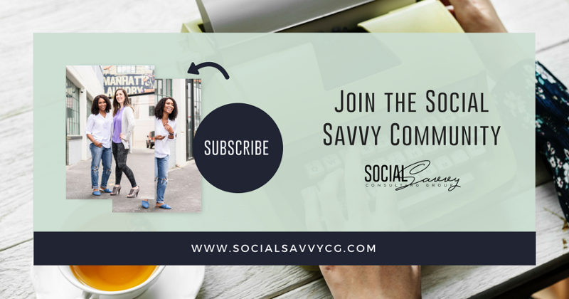 Subscribe to the Social Savvy Consulting Newsletter