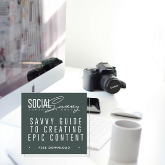 Free Marketing Download - Savvy Guide to Creating Epic Content
