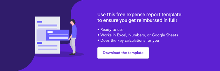 Download our free expense report template