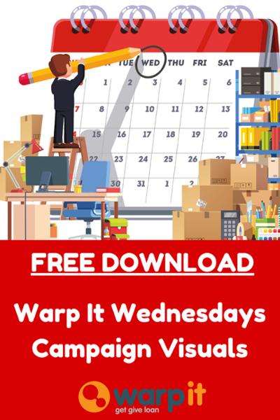 warp it wednesday campaign visuals