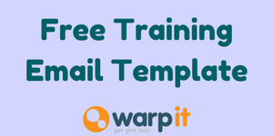 free training email template