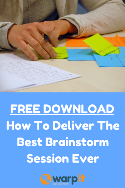how to deliver the best brainstorm session ever