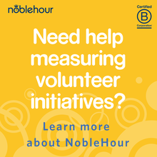 Need help measuring volunteer initiatives? Learn more about NobleHour