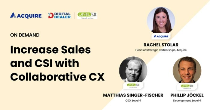 Learn how to increase automotive sales with collaborative cx and Level 4.0