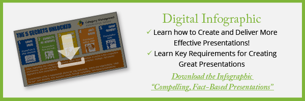 """Download the """"Compelling, Fact - Based Presentations"""" Infographic from Category Management Knowledge Group"""