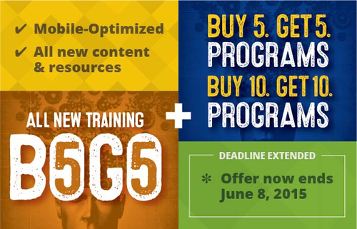 B5G5 Offer for New Category Management Training Programs