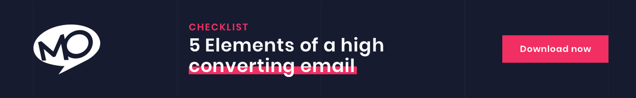 Checklist for elements of a high converting email