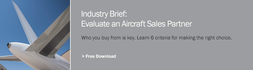 Evaluate an aircraft sales partner.