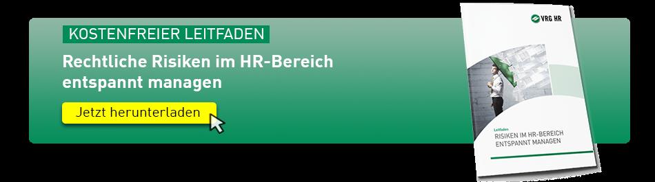 Rechtliche Risiken im HR-Bereich entspannt managen (Leitfaden)