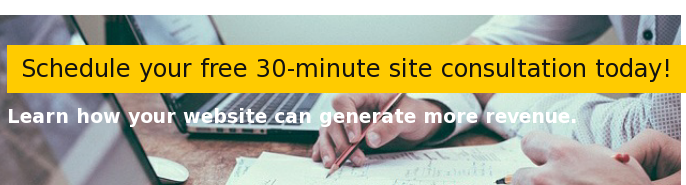 Schedule your free 30-minute site consultation today!  Learn how your website can generate more revenue.