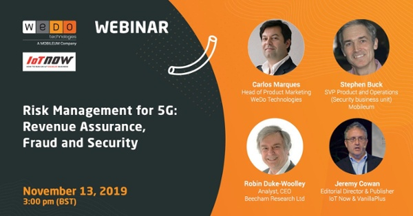 Webinar | Risk Management for 5G: Revenue Assurance, Fraud and Security
