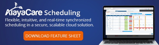 AlayaCare Scheduling Feature Sheet