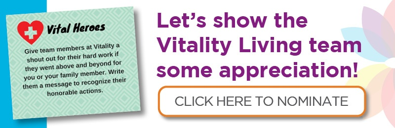 Vitality Living Appreciation