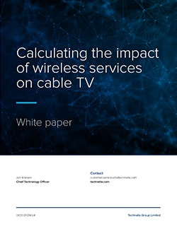 Calculating the impact of wireless services on cable TV