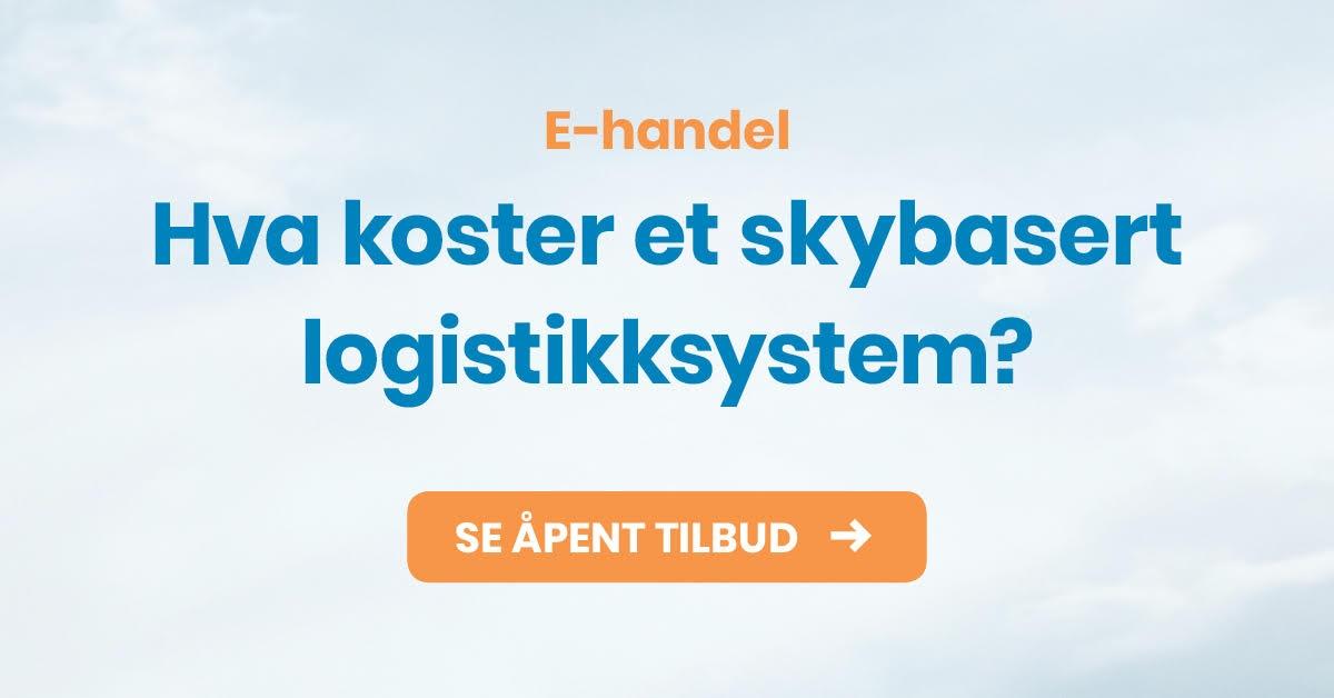 Hva koster et skybasert logistikksystem? Se åpent tilbud