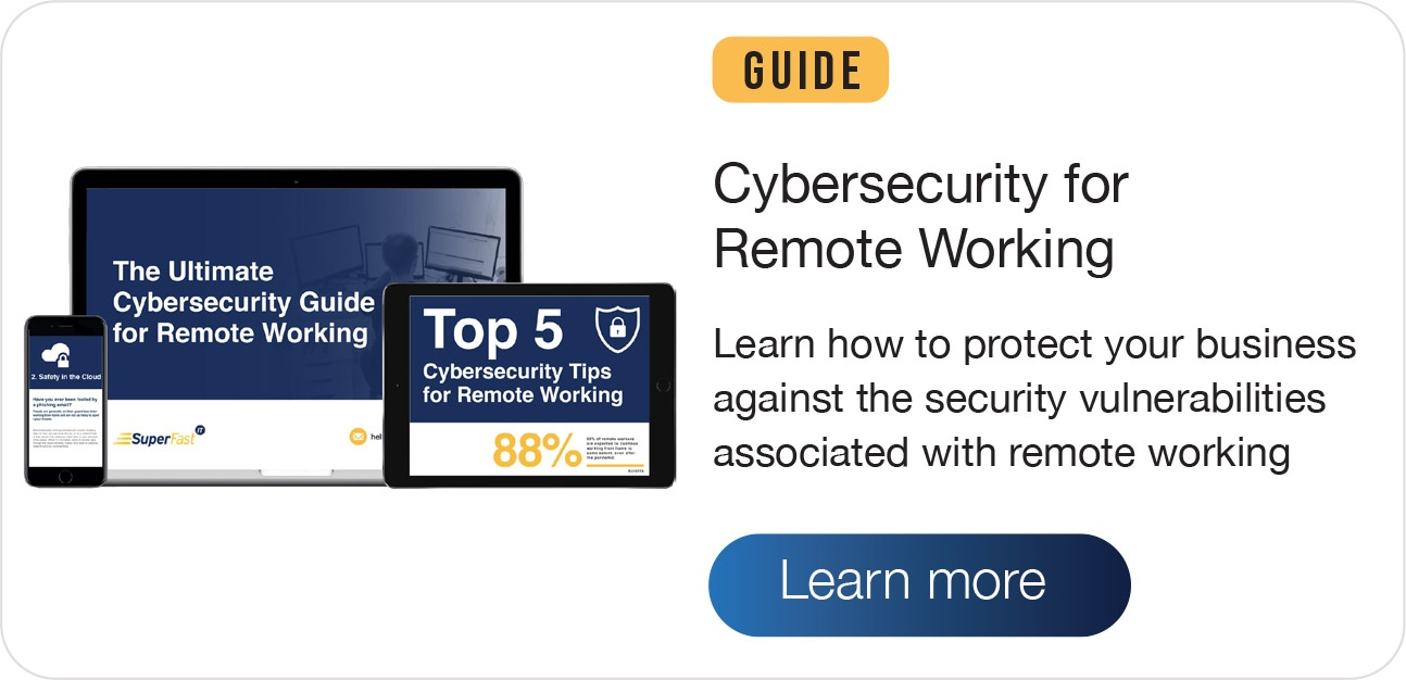 Cybersecurity for remote working guide