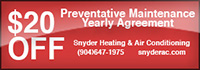 $20 off Preventative Maintenance Yearly Agreement