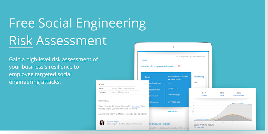 Free social engineering risk assessment CTA