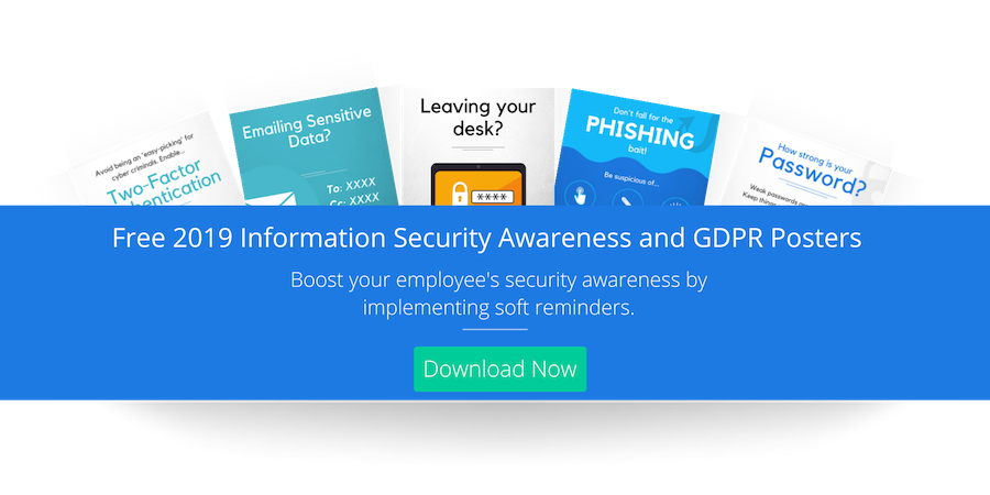 Free 2019 Information Security Awareness and GDPR Posters