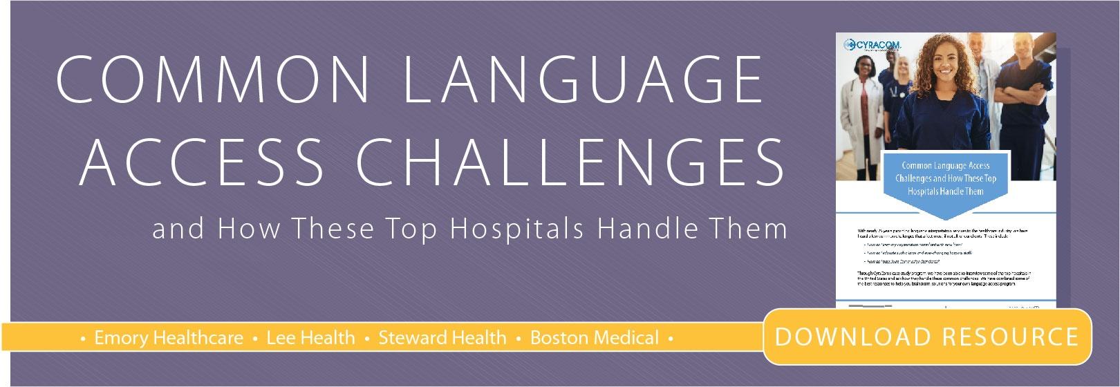 Common Language Access Challenges Case Study Download