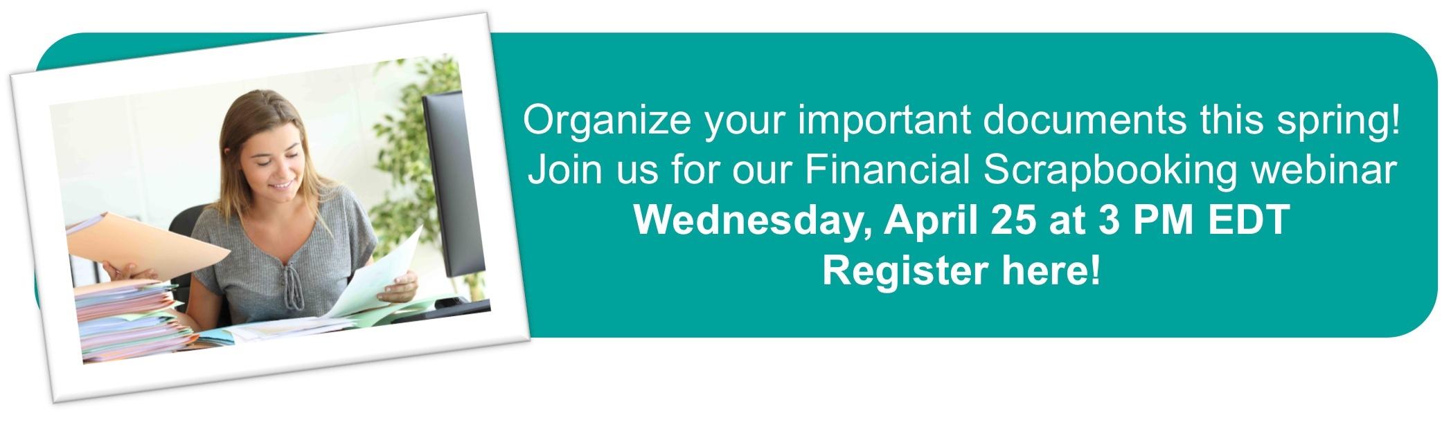 Financial Scrapbooking Webinar