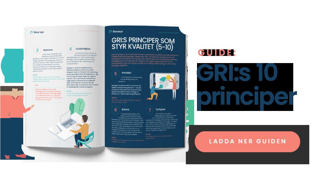 Ladda ner guiden: GRI:s 10 principer som hjälper dig att hållbarhetsredovisa