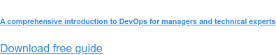 A comprehensive introduction to DevOps for managers and technical experts  Download free guide