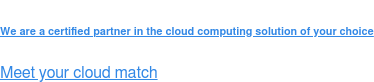 We are a certified partner in the cloud computing solution of your choice  Meet your cloud match