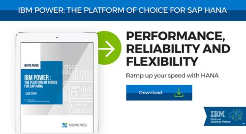 IBM POWER: platform of choice for SAP HANA