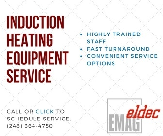Call eldec for induction heating equipment service.