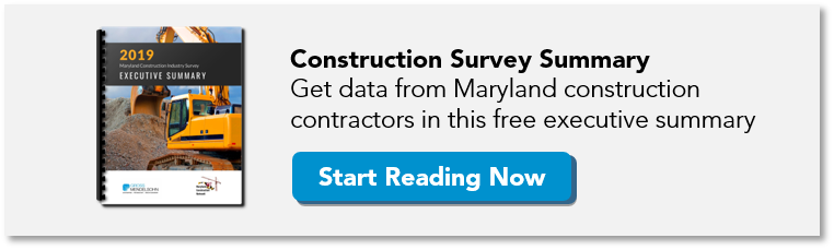 2019 Maryland Construction Industry Survey Executive Summary