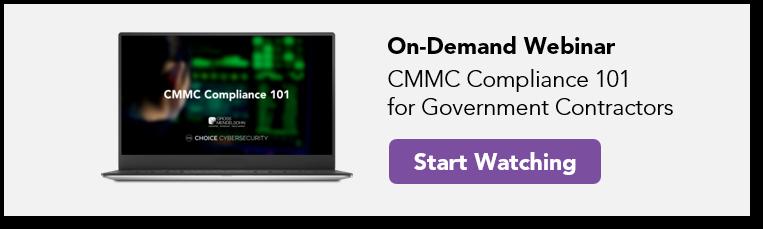 CMMC webinar for government contractors