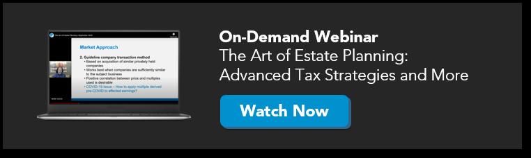 Webinar for estate planning attorneys
