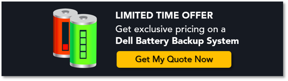 Get this exclusive deal on a dell battery backup system