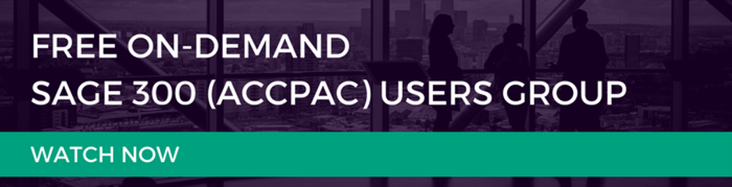 Watch the recording of the Sage 300 Accpac Users Group