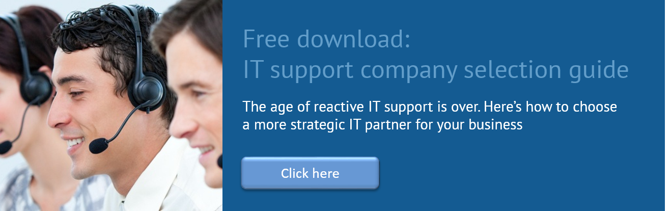 Free download: IT support company selection guide