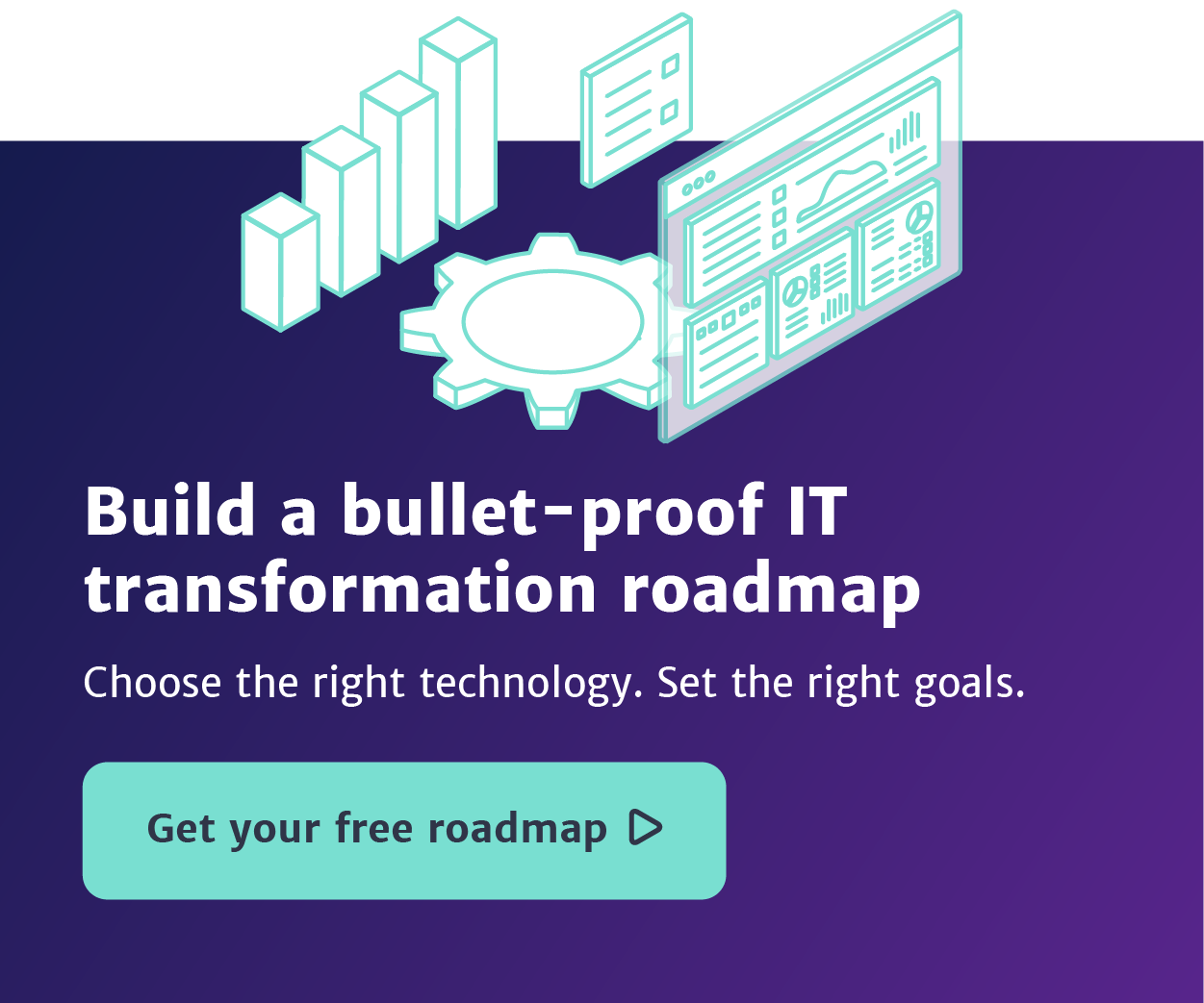 IT transformation roadmap CTA square