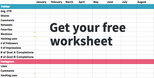 Free social media worksheet