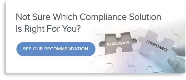 Use our Solution Finder to find the right compliance solution for your business.