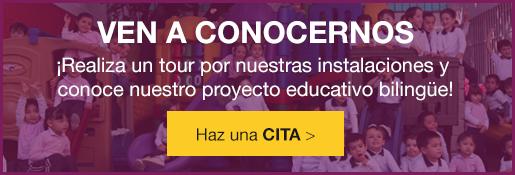 Ven a conocernos - realiza un tour por nuestras instalaciones y conoce nuestro proyecto educativo bilingüe - haz una cita