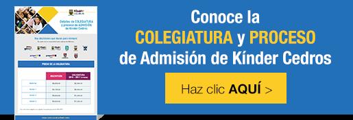 Conoce la colegiatura y proceso de admisión de Kínder Cedros